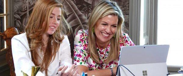 Princess and Queen joining an online Meet